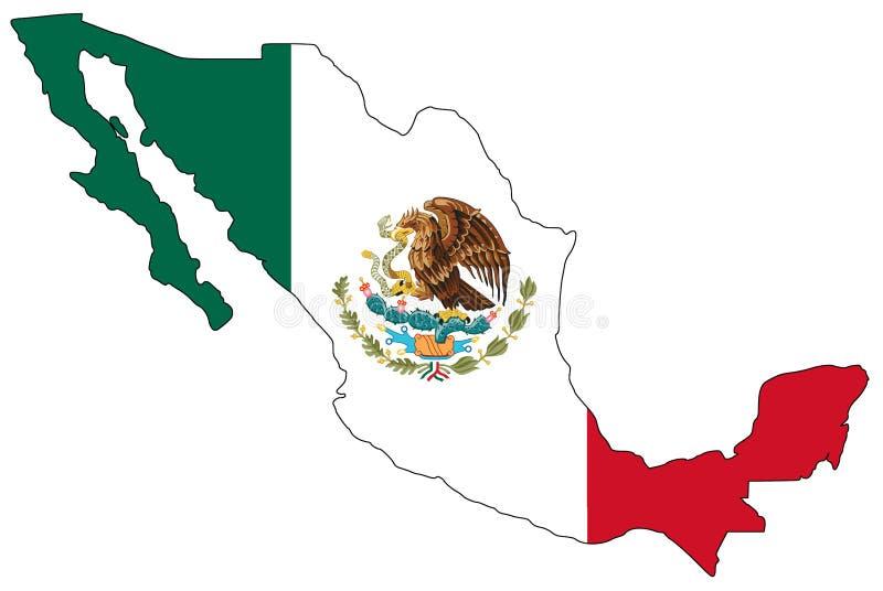 χάρτης Μεξικό στοκ εικόνες με δικαίωμα ελεύθερης χρήσης