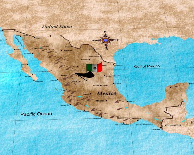 χάρτης Μεξικό διανυσματική απεικόνιση