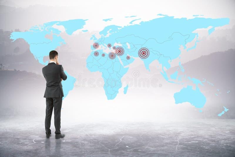 Χάρτης με τους στόχους απεικόνιση αποθεμάτων