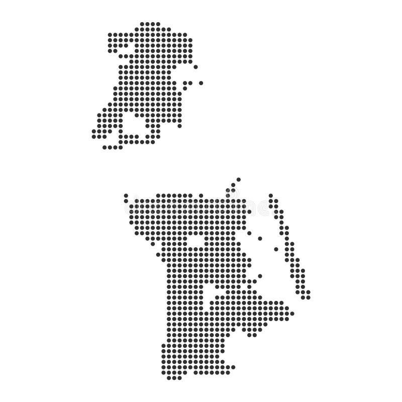 Χάρτης με το σημείο διανυσματική απεικόνιση