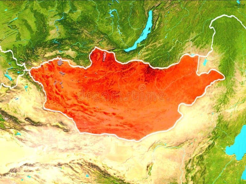 χάρτης Μογγολία απεικόνιση αποθεμάτων
