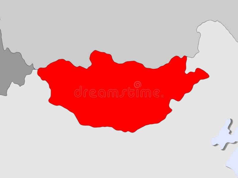 χάρτης Μογγολία ελεύθερη απεικόνιση δικαιώματος