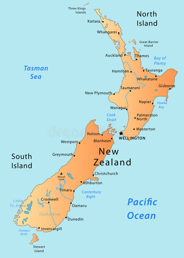 χάρτης Νέα Ζηλανδία