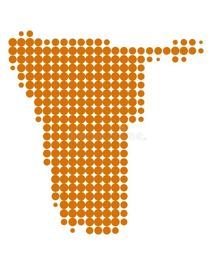 χάρτης Ναμίμπια απεικόνιση αποθεμάτων