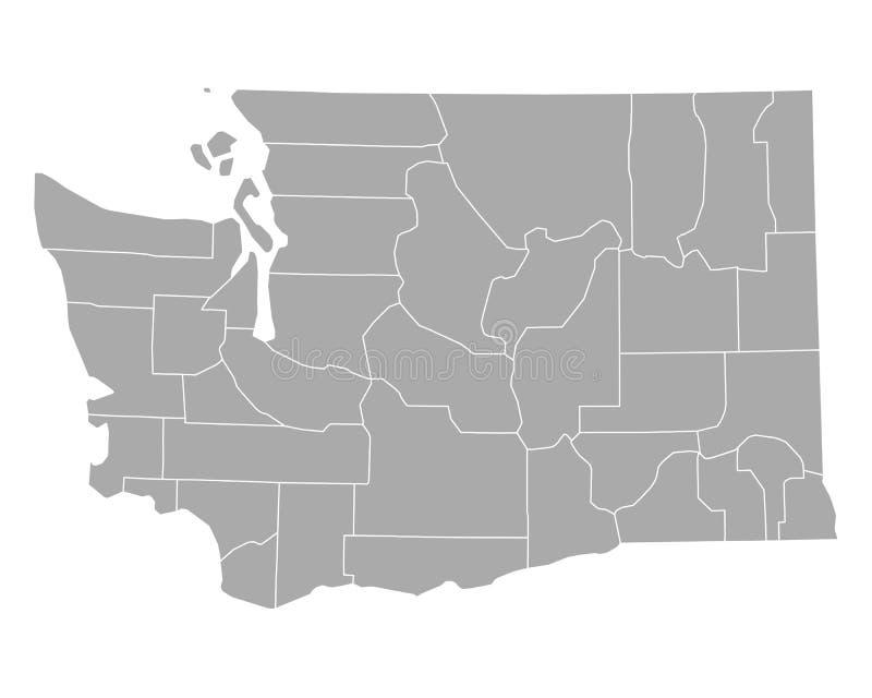 χάρτης Ουάσιγκτον διανυσματική απεικόνιση