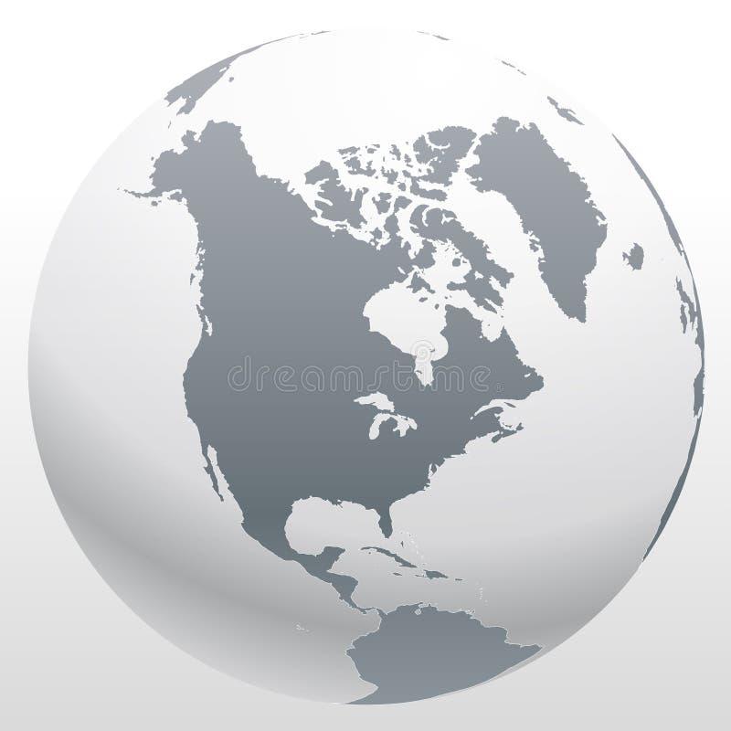 Χάρτης παγκόσμιων σφαιρών ελεύθερη απεικόνιση δικαιώματος