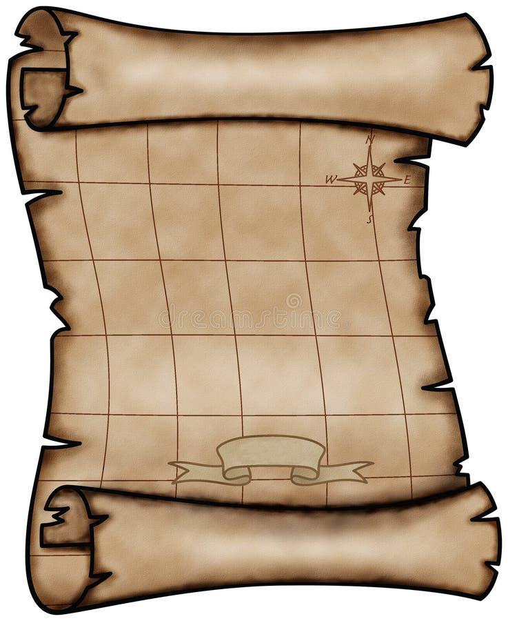 χάρτης παλαιός απεικόνιση αποθεμάτων