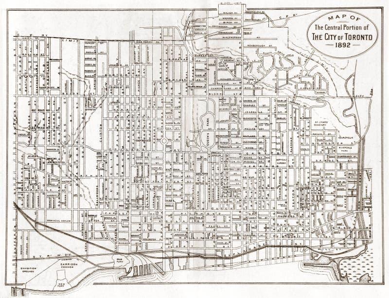 χάρτης παλαιό Τορόντο στοκ φωτογραφία με δικαίωμα ελεύθερης χρήσης