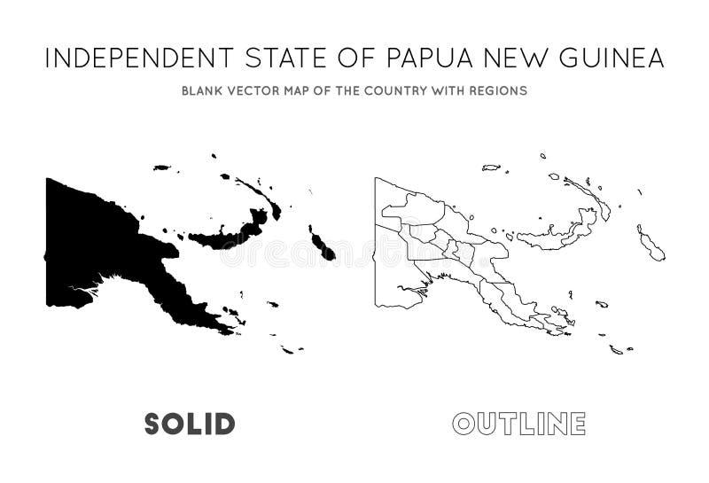 Χάρτης Παπούα Νέα Γουϊνέα ελεύθερη απεικόνιση δικαιώματος
