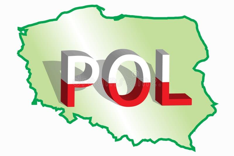 χάρτης Πολωνία ελεύθερη απεικόνιση δικαιώματος