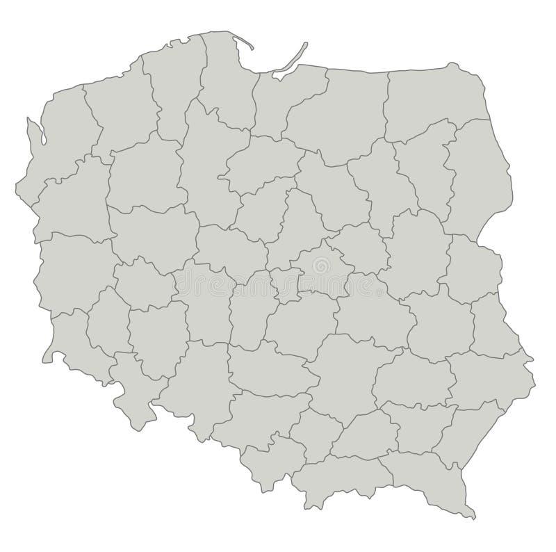 χάρτης Πολωνία απεικόνιση αποθεμάτων