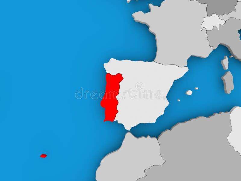 χάρτης Πορτογαλία ελεύθερη απεικόνιση δικαιώματος