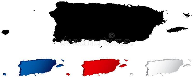 χάρτης Πουέρτο Ρίκο διανυσματική απεικόνιση
