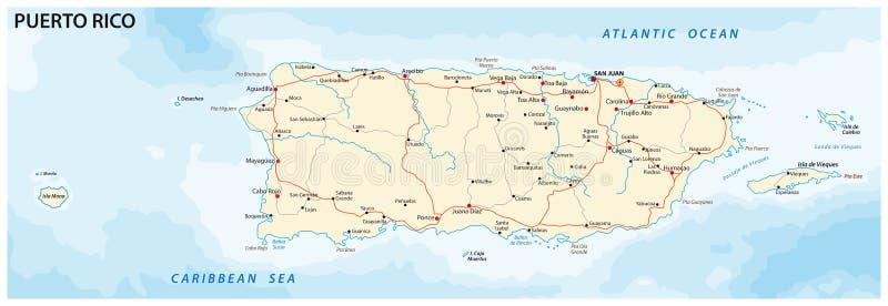 χάρτης Πουέρτο Ρίκο απεικόνιση αποθεμάτων
