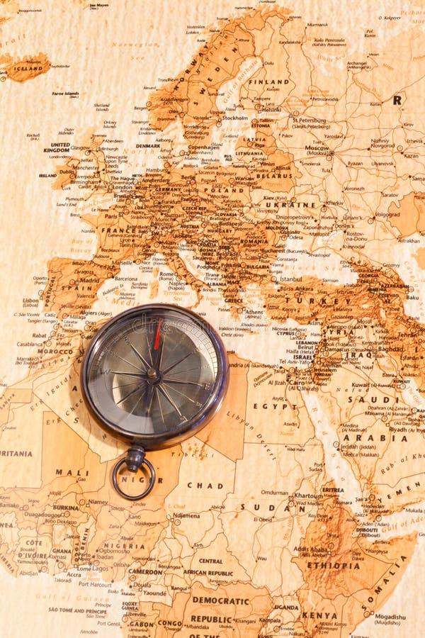 χάρτης πυξίδων που εμφανίζ&eps στοκ φωτογραφίες