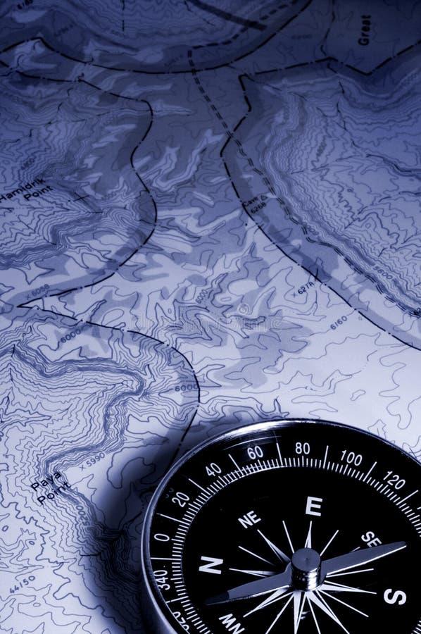 χάρτης πυξίδων στοκ εικόνες με δικαίωμα ελεύθερης χρήσης