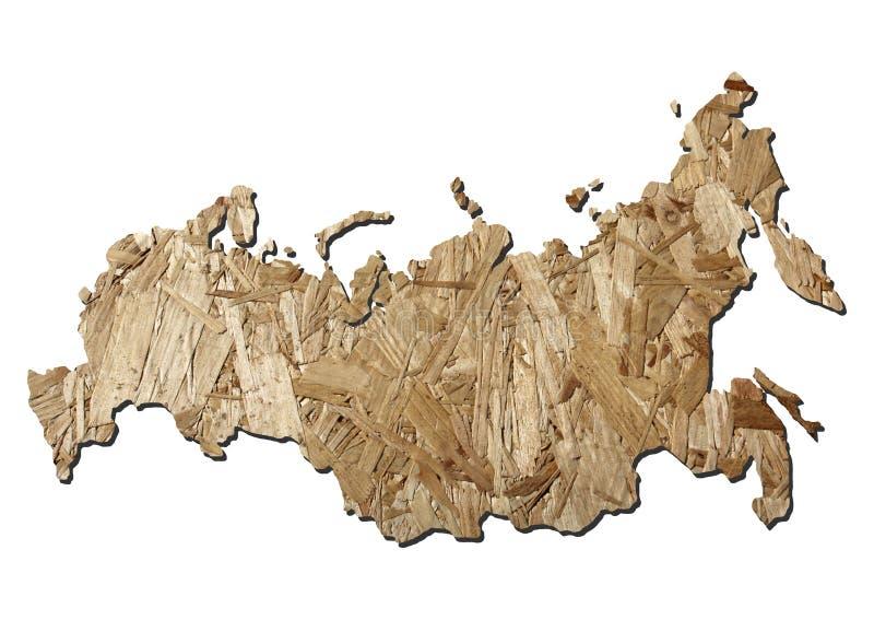 χάρτης Ρωσία χαρτονιού ελεύθερη απεικόνιση δικαιώματος