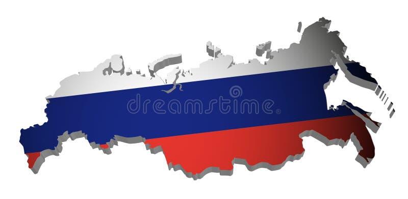 χάρτης Ρωσία απεικόνιση αποθεμάτων