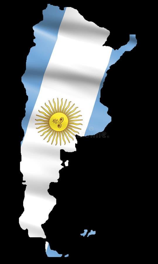 χάρτης σημαιών της Αργεντι&nu απεικόνιση αποθεμάτων