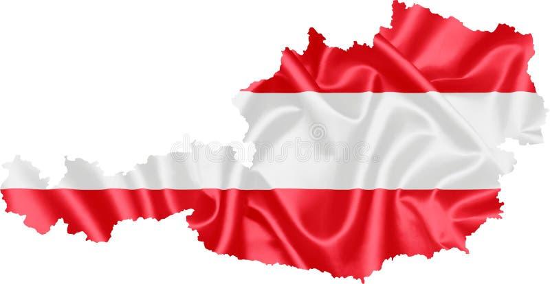 χάρτης σημαιών της Αυστρία&sigm διανυσματική απεικόνιση