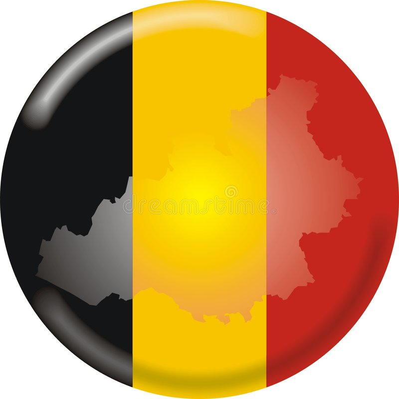 χάρτης σημαιών του Βελγίο& απεικόνιση αποθεμάτων