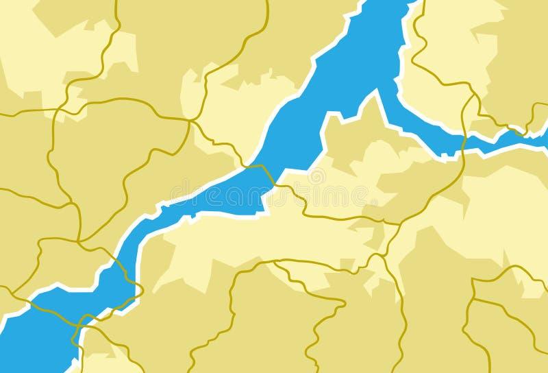 Χάρτης, ταξίδι, γεωγραφία διανυσματική απεικόνιση
