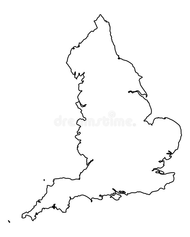 χάρτης της Αγγλίας ελεύθερη απεικόνιση δικαιώματος
