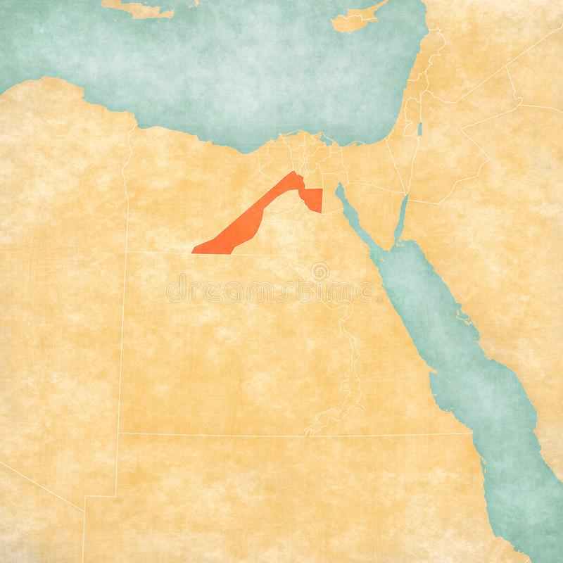 Χάρτης της Αιγύπτου - Giza Governorate διανυσματική απεικόνιση
