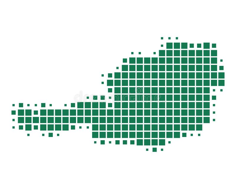 χάρτης της Αυστρίας διανυσματική απεικόνιση