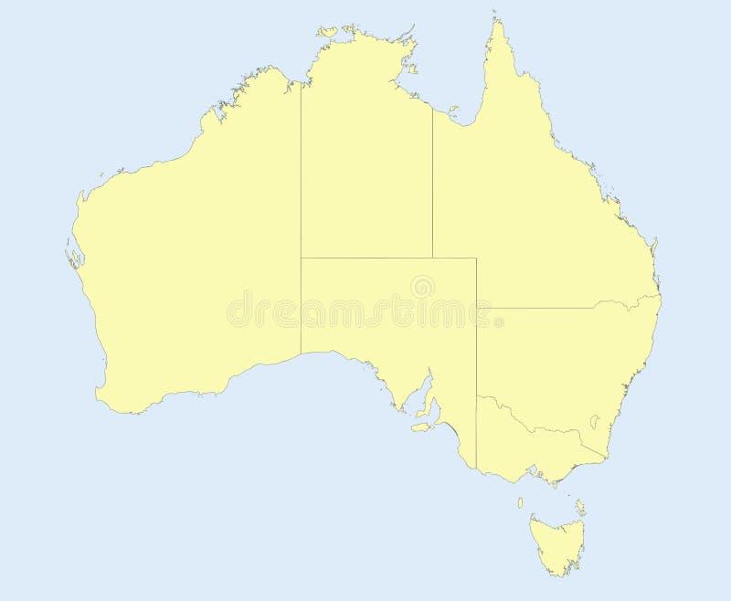 Download χάρτης της Αυστραλίας κίτ&rh Απεικόνιση αποθεμάτων - εικονογραφία από κίτρινος, ήπειρος: 2231892