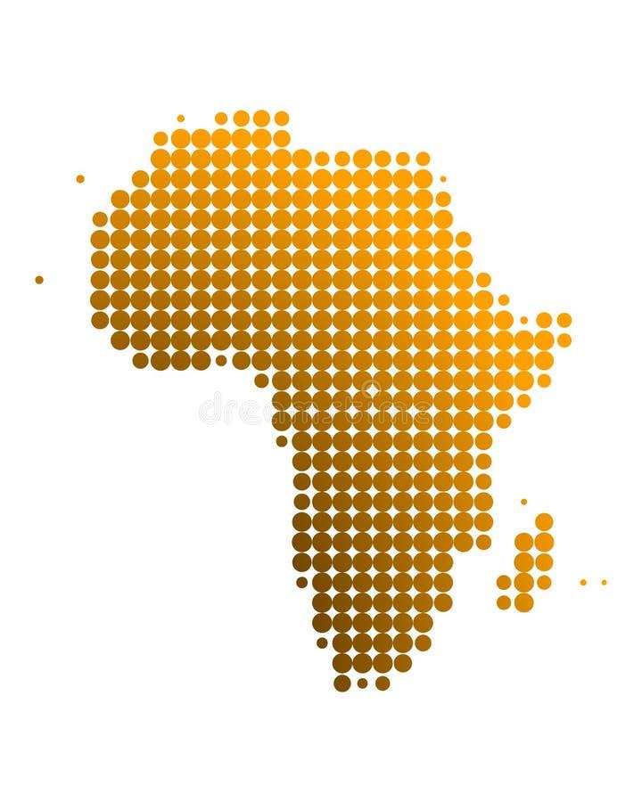 χάρτης της Αφρικής ελεύθερη απεικόνιση δικαιώματος