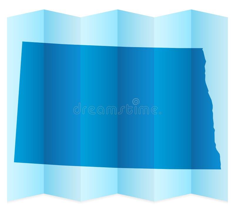 Χάρτης της βόρειας Ντακότας ελεύθερη απεικόνιση δικαιώματος