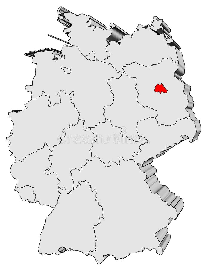 χάρτης της Γερμανίας ελεύθερη απεικόνιση δικαιώματος