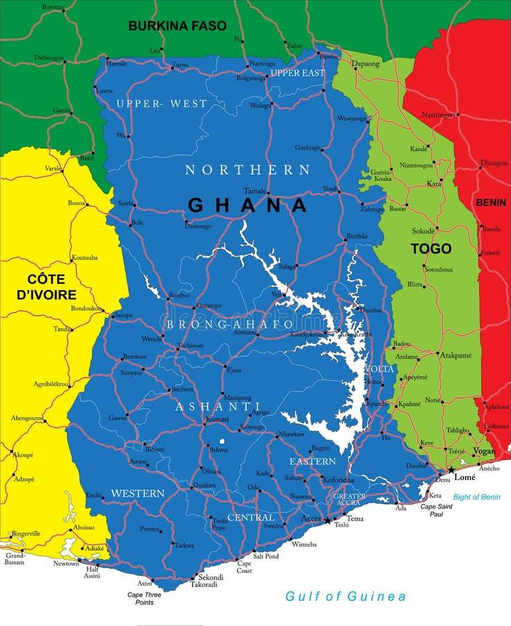Χάρτης της Γκάνας απεικόνιση αποθεμάτων