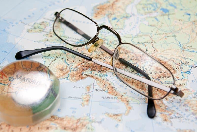 χάρτης της Ευρώπης στοκ φωτογραφία