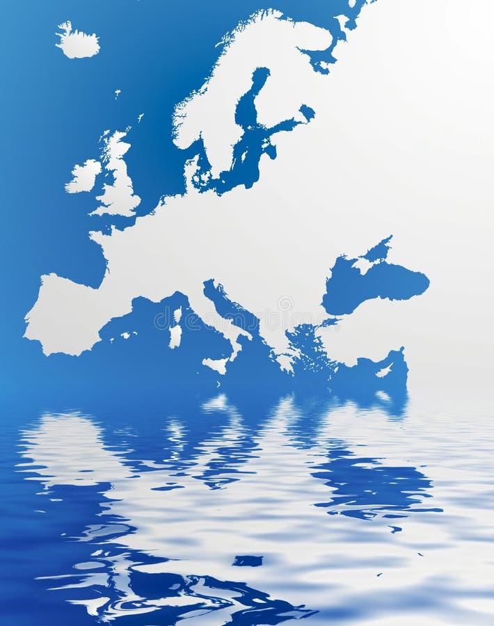 χάρτης της Ευρώπης διανυσματική απεικόνιση