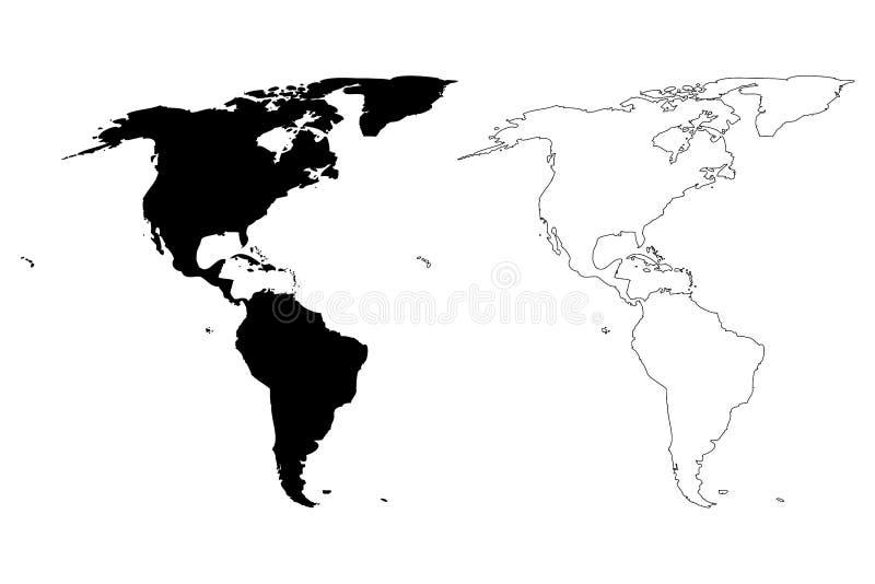 Χάρτης της διανυσματικής απεικόνισης της Αμερικής, απεικόνιση αποθεμάτων