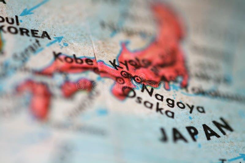χάρτης της Ιαπωνίας στοκ φωτογραφία με δικαίωμα ελεύθερης χρήσης