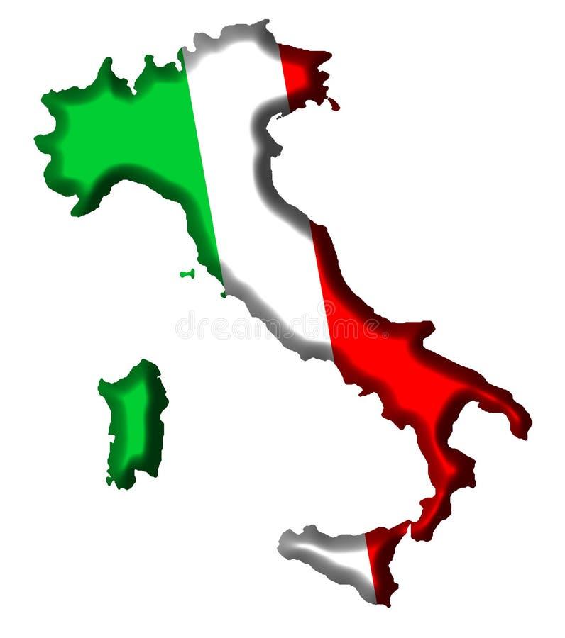 χάρτης της Ιταλίας ελεύθερη απεικόνιση δικαιώματος