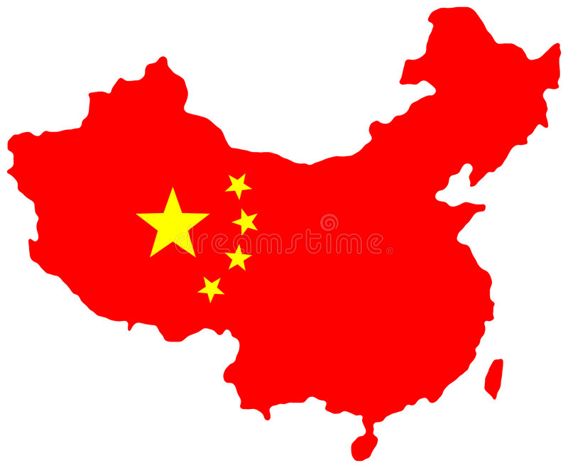 χάρτης της Κίνας διανυσματική απεικόνιση