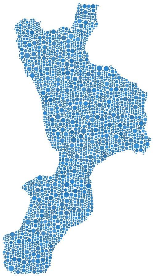 Χάρτης της Καλαβρίας ελεύθερη απεικόνιση δικαιώματος