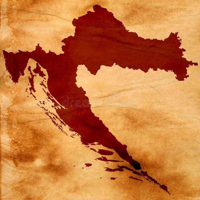 χάρτης της Κροατίας στοκ εικόνες