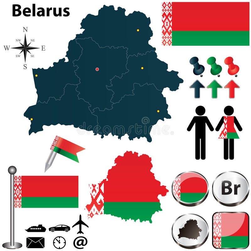 Χάρτης της Λευκορωσίας απεικόνιση αποθεμάτων