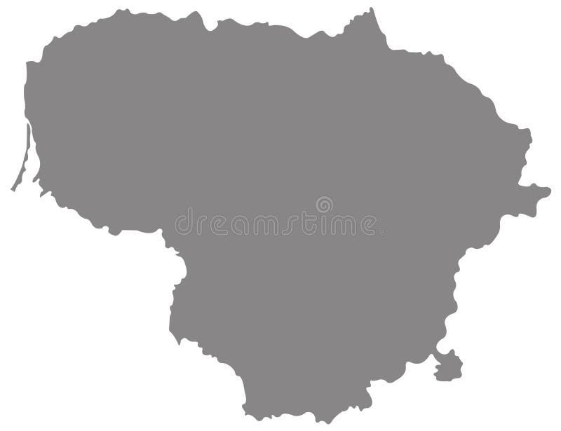 Χάρτης της Λιθουανίας - Δημοκρατία της Λιθουανίας ελεύθερη απεικόνιση δικαιώματος