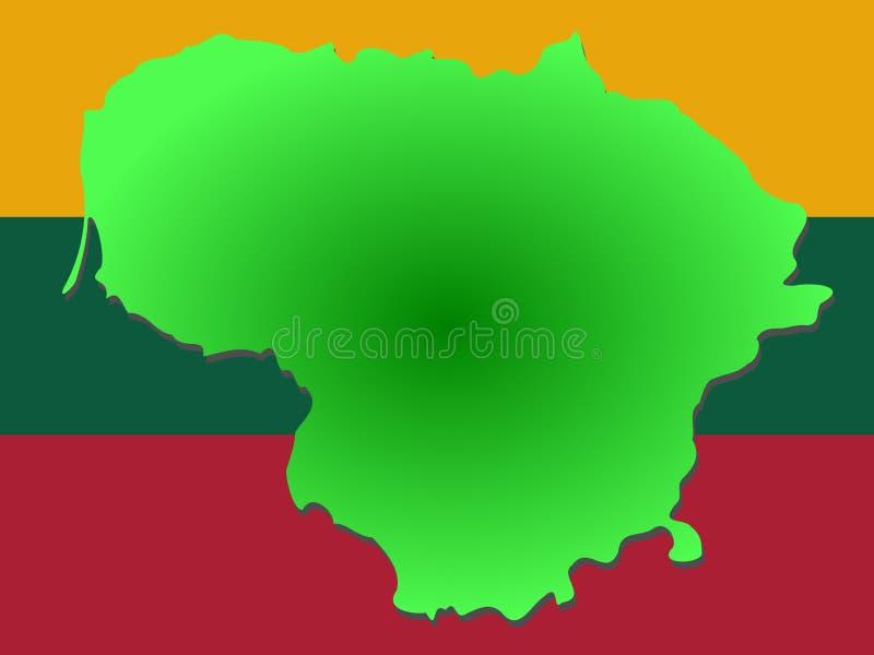 χάρτης της Λιθουανίας απεικόνιση αποθεμάτων