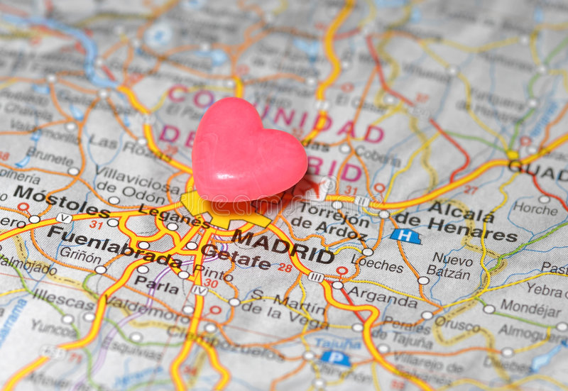 χάρτης της Μαδρίτης πέρα από τ&o στοκ φωτογραφία με δικαίωμα ελεύθερης χρήσης