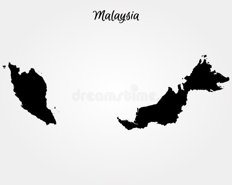 χάρτης της Μαλαισίας ελεύθερη απεικόνιση δικαιώματος