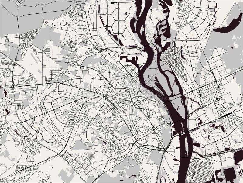 Χάρτης της πόλης του Κίεβου, Ουκρανία ελεύθερη απεικόνιση δικαιώματος