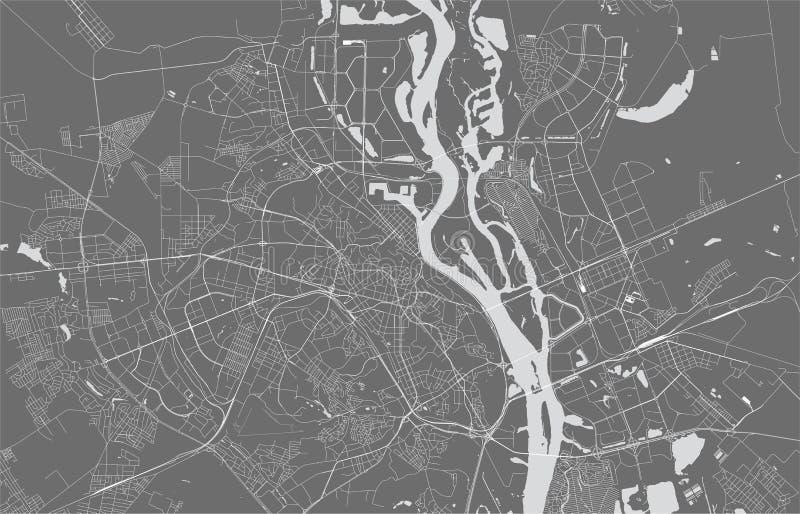 Χάρτης της πόλης του Κίεβου, Ουκρανία απεικόνιση αποθεμάτων