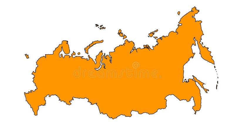 Χάρτης της Ρωσίας ελεύθερη απεικόνιση δικαιώματος